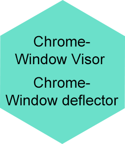 Chrome Window Visor , Chrome Window deflector